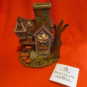 PartyLite P7862 Halloween Ghostly Tealight house